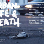 urban life and death exhibition flyer