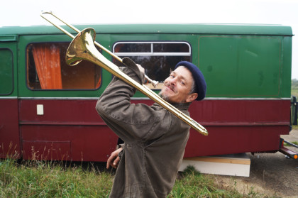 off grid hamilton with trombone