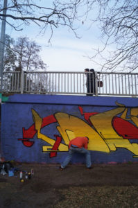cambridge junc photo zine bridge graffiti