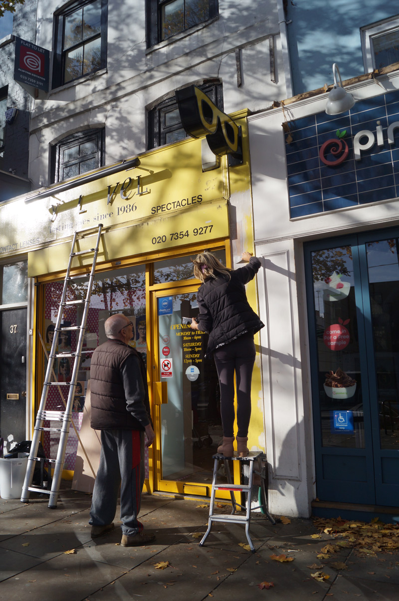 islington street photography opticians facade refurbishment