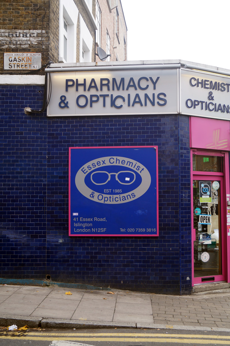 islington street photography pharmacy signage