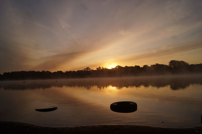 sunrise at leziate lake